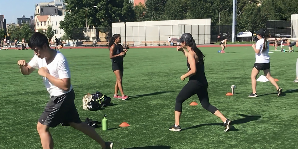 Outdoor Kickboxing & HIIT Workout with Jen (8/8)
