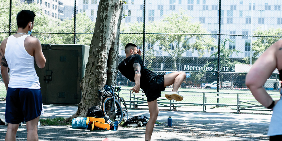 Outdoor Muay Thai Kickboxing with Justin (9/13)