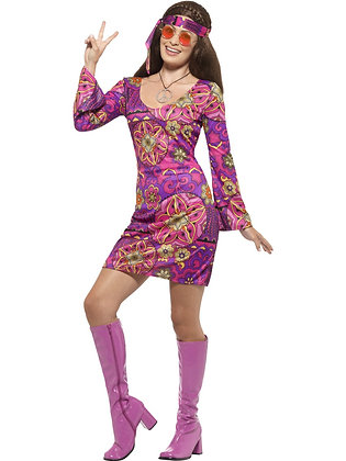 Woodstock Hippie Chick Costume AFD45519