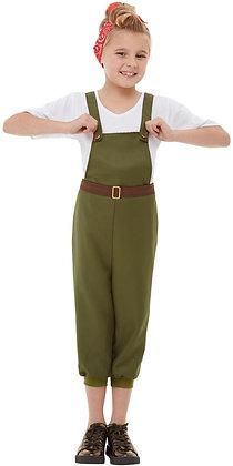 WW2 Little Land Girl Costume AFD50741