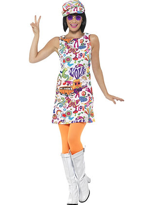 60s Groovy Chick Costume AFD44911