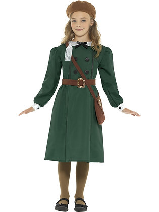 WW2 Evacuee Girl Costume AFD45011