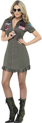 Top Gun Deluxe Lady Costume AFD26854
