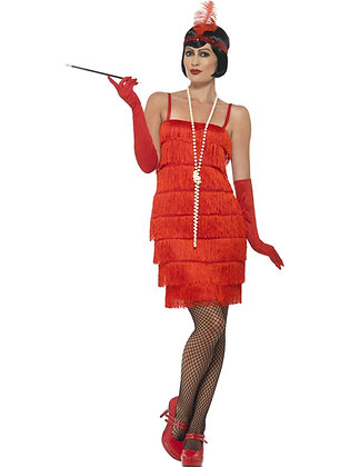 Red Flapper Costume AFD45499