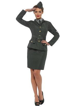 WW2 Army Girl Costume AFD47383
