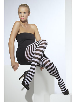 Striped Tights, Black and White AFD42761