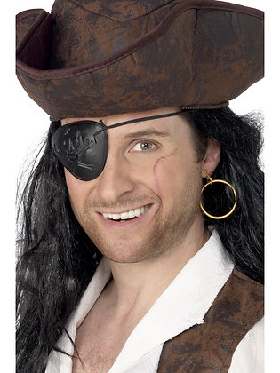 Pirate Eye Patch and Earring Set AFD3909