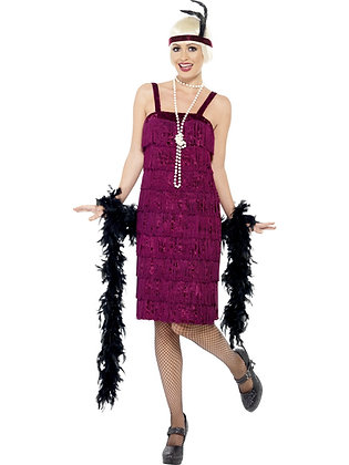 Jazz Flapper Costume, Burgundy AFD26110