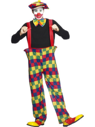 Hooped Clown Costume AFD96312
