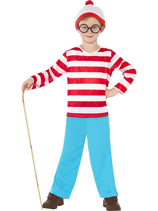 Where's Wally? Child Costume AFD39971