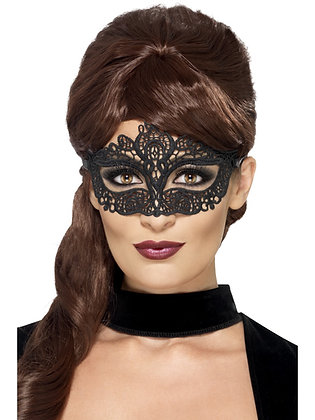 Embroidered Lace Eye Mask, Black AFD44282