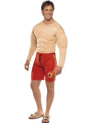 Baywatch Lifeguard Muscle Costume AFD36584