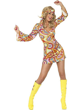 Hippy Lady Costume AFD34060