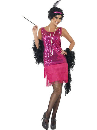 Pink Flirty Flapper Costume AFD22417