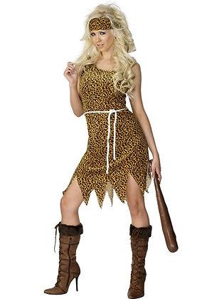 Ladies Cave Woman Costume AFD22452