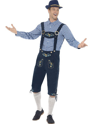 Deluxe Bavarian Costume, Blue AFD45265
