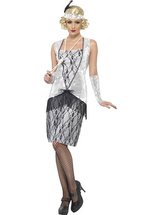Flapper Costume, Silver AFD25278