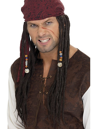 Pirate Wig with Bandana AFD42078