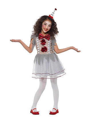 Vintage Clown Girl Costume AFD49825