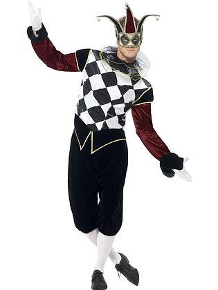 Gothic Venetian Harlequin Male Costume AFD43653