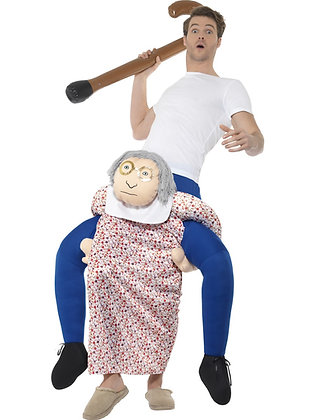 Piggy Back Grandma Costume AFD48813