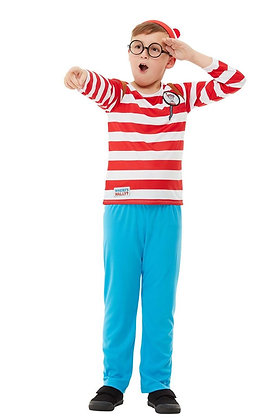 Where's Wally? Boy Costume AFD50279