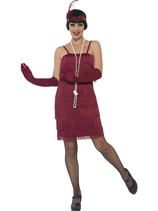 Burgundy Flapper Costume AFD44675