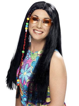 Hippy Party Wig, Black AFD42183