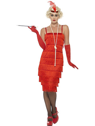 Red Flapper Costume AFD45501