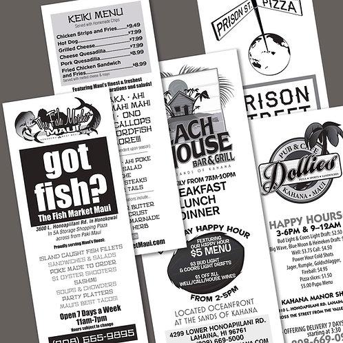 Black & White Brochures