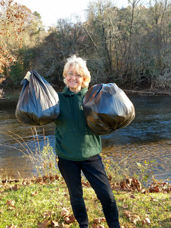Tracy Allen at the river clean up