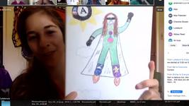 Superhero Drawing, Allie