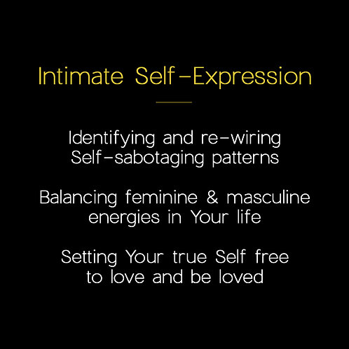 Intimate Self-expression [4x sessions]