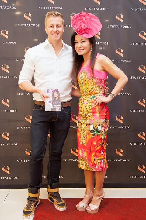 Gareth Cliff and Jen Su