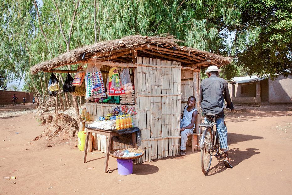 A roadside vendor stand
