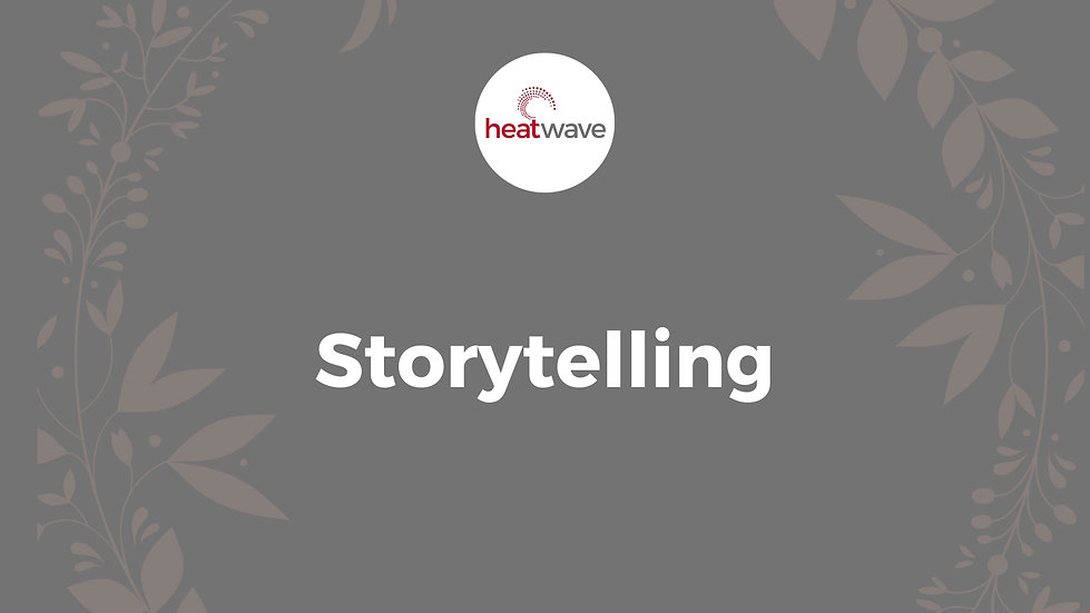 Heatwave is turning 15 on 15 October. To celebrate, we're giving away a professionally produced storytelling video.     That's right!     We're going to produce a video telling one of your human interest stories.     Why are we doing this?  ​  Because we believe that storytelling is one of the most effective ways of communicating and we believe in giving back. Also, it's our birthday and we can!     Do you have a human-interest story to tell? It could be about running your business, overcoming an obstacle or about success against all odds. Even if your brand makes a difference in the lives of others, you're welcome to enter.