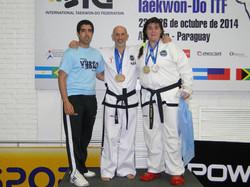 En el Podio con 4 medallas