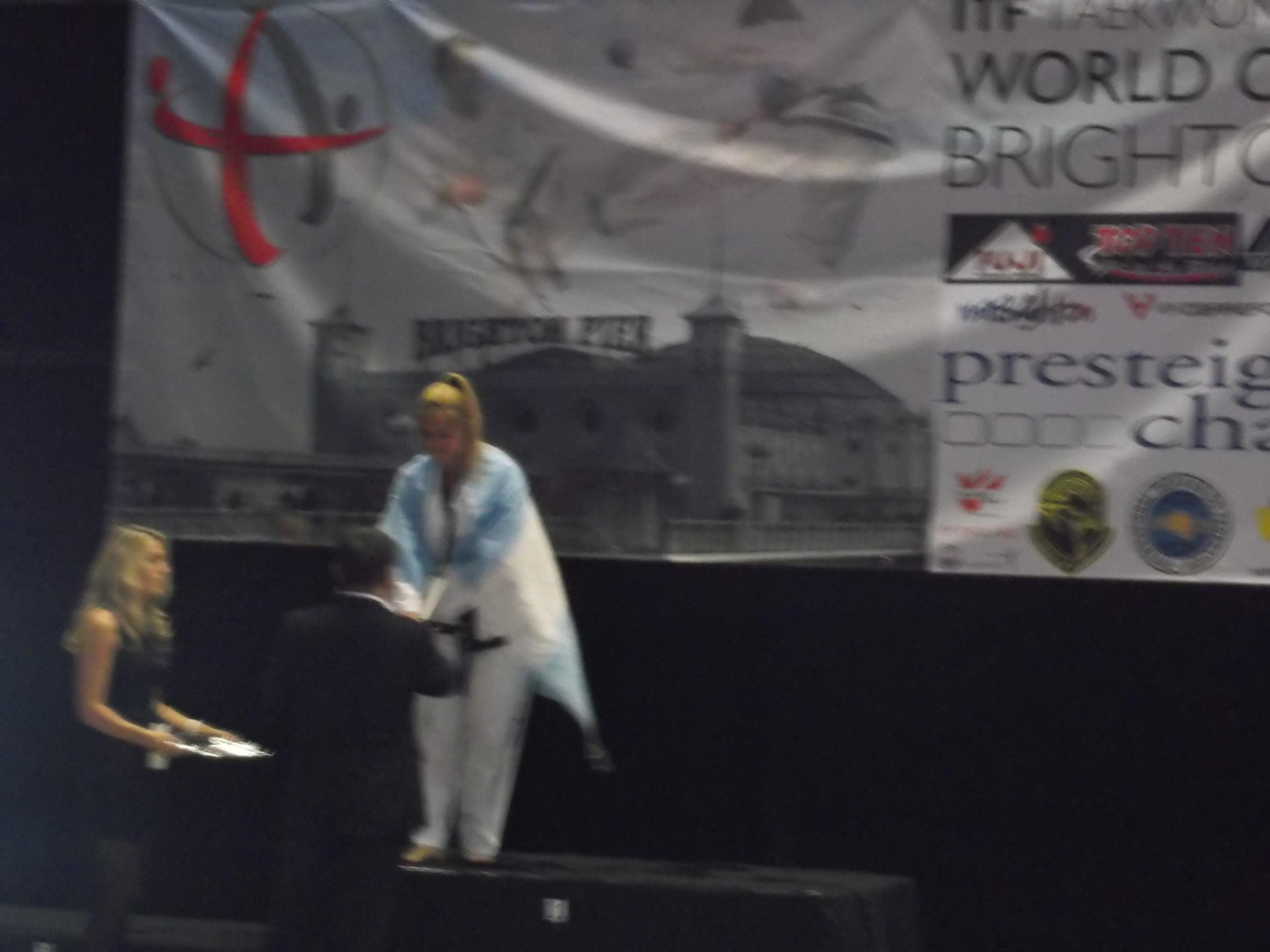 Graciela Van Risjwijk en el podio