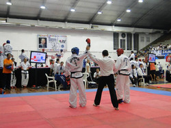 Christian Di Leo ganando 1° combate