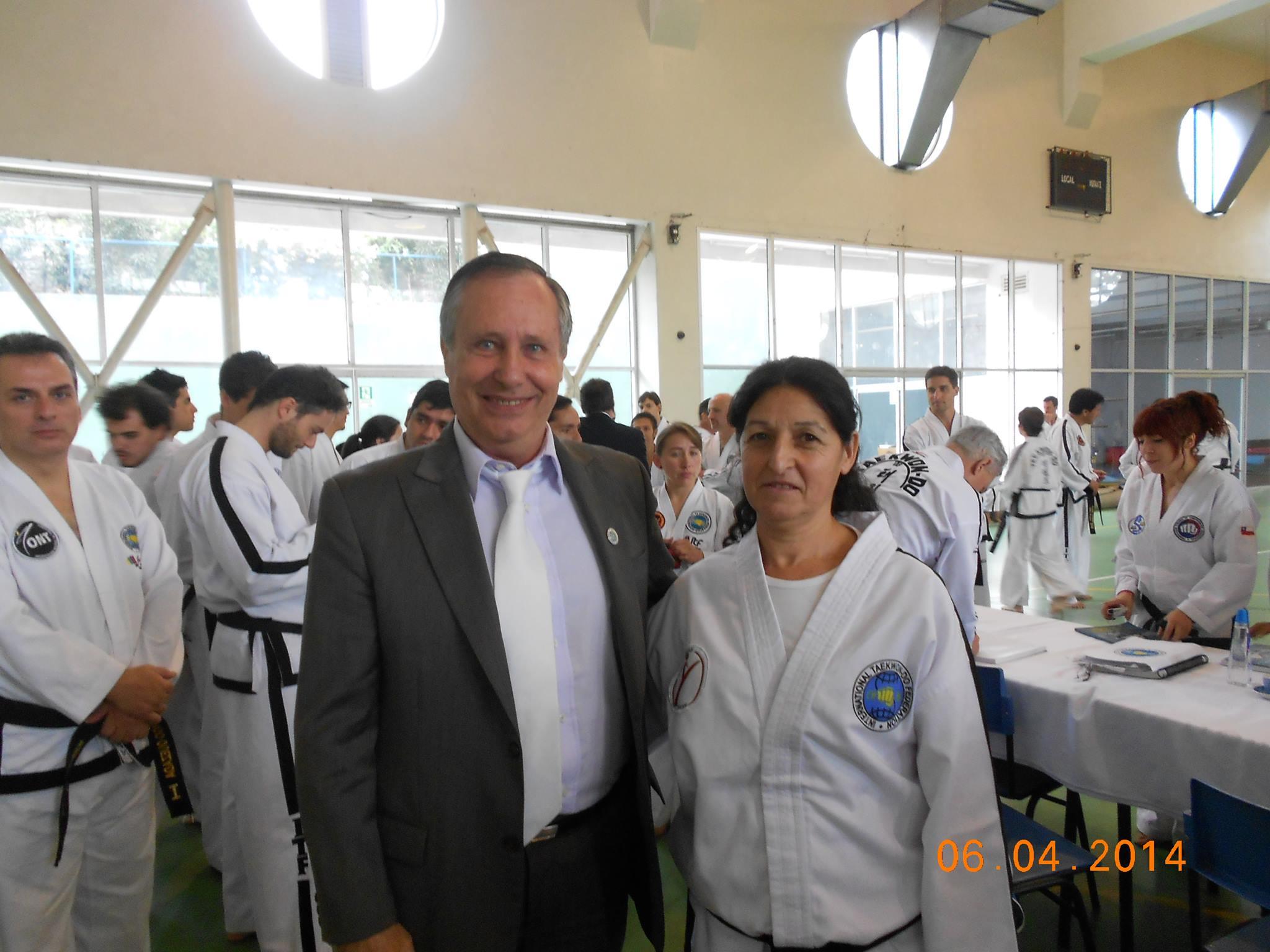 Emilce García con GM Trajtenberg