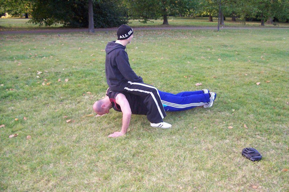 Entrenando en el Hyde Park