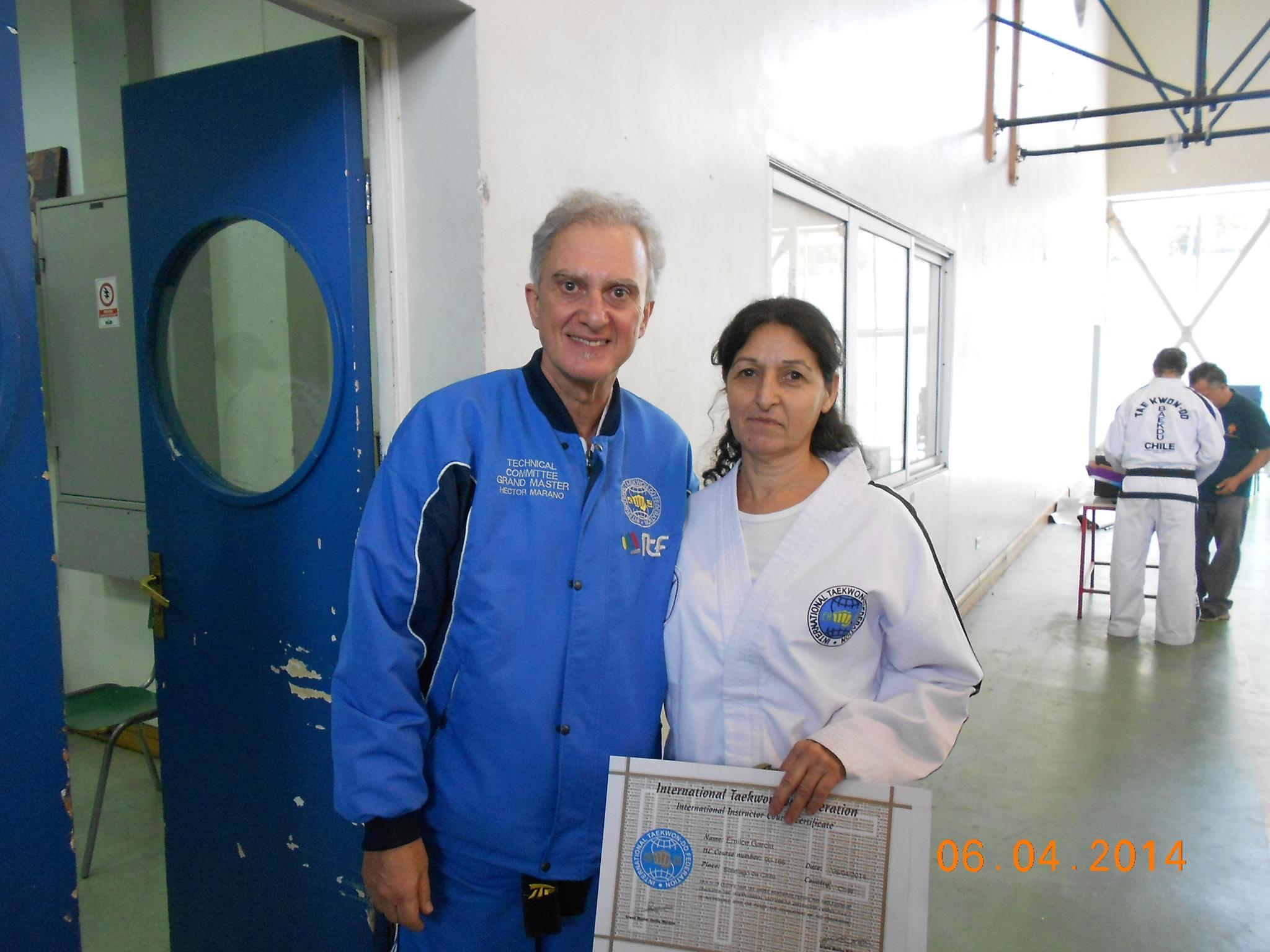 Emilce García con Maestro Marano