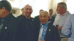 Junto al Maestro Ung Lan 9° Dan