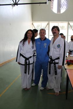 A. Martinangeli y J.Cobo con W. Bos