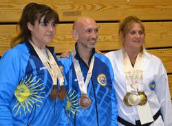 Con las medallas obtenidas