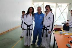 A. Martinangeli y J. Cobo con W. Bos