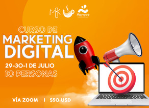 Curso en VIVO de Marketing Digital vía zoom
