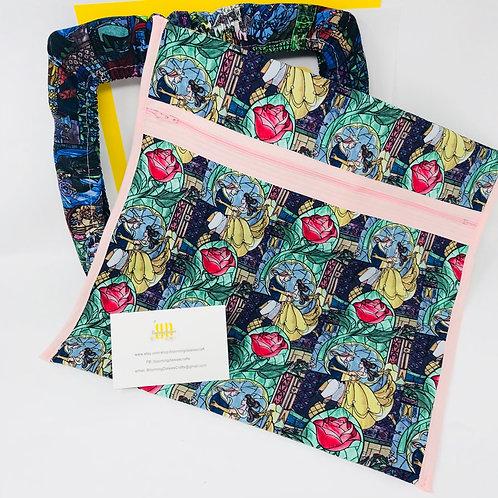 Beauty & Beast Q-Snap Project Bag - 11x11 or 11x17 / Cross stit...