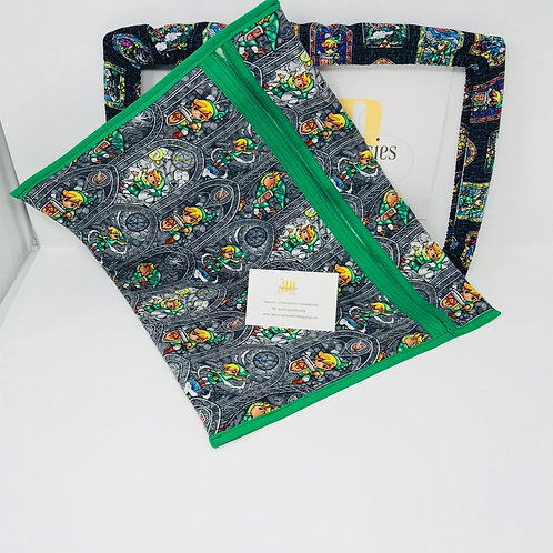 Legend of Zelda - Link Q-Snap Project Bags - Cross stitch Travel Bag