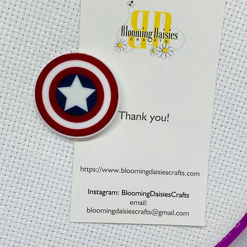 Captain America Shield Needle Minder / Holder / Magnet